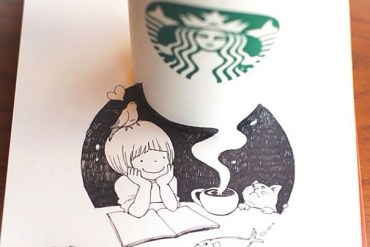 3D comics series จากถ้วย Starbuck แทนกระดาษวาดเขียน 29 - Starbucks (สตาร์บัคส์)