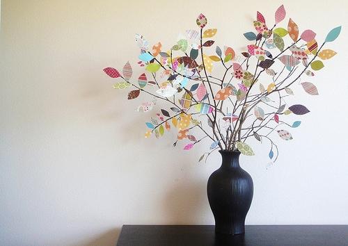 25551229 191519 DIY ต้นไม้จากเศษกระดาษห่อของขวัญ