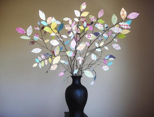 25551229 191615 DIY ต้นไม้จากเศษกระดาษห่อของขวัญ