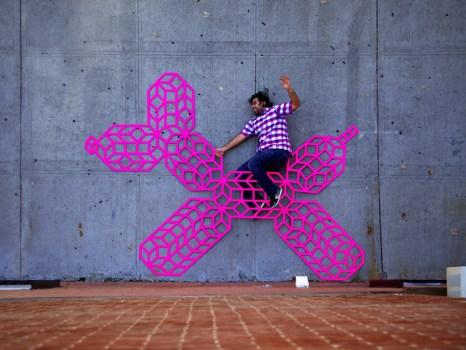 Aakash NIHALANI PLAYGROUND Oct10 1 1000 466x350 3D Tape Art Installation เทปกาวลายกราฟิก สร้างมิติที่สร้างสรรค์