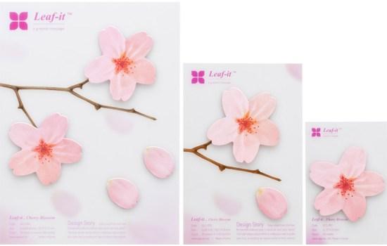 cherryblossom05 550x350 กระดาษโพสต์ อิท ที่ร่วงโรย Cherry blossom memo stickers by appree
