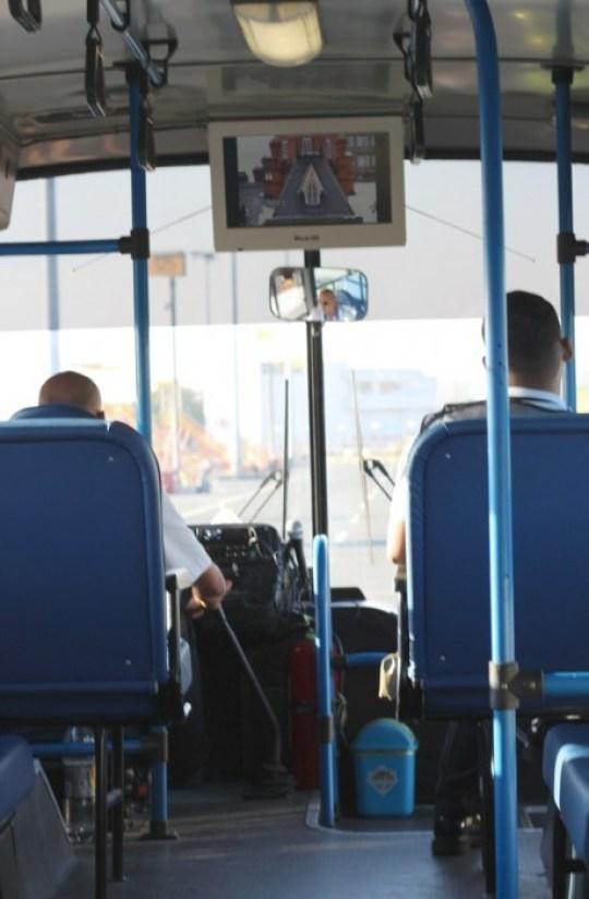 PR shuttle bus with Karaoke
