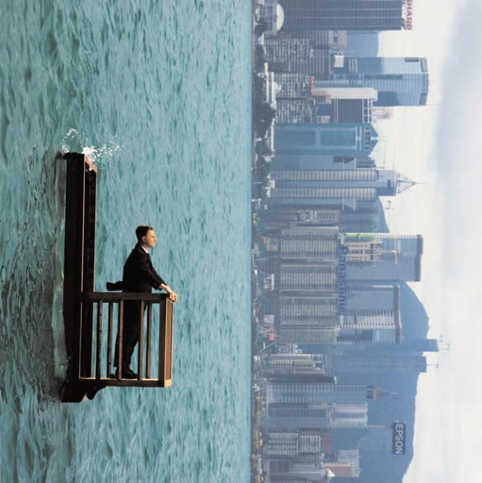โลกตะแคง..โดย ฟิลิปป์ ราแมตต์ (Philippe Ramette) 13 - Philippe Ramette