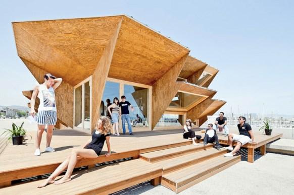 iaac endesa solar pavilion 2 Green Architect Endesa Solar Pavilion แนวคิด การนำพลังงานแสงอาทิตย์มาใช้กับตัวอาคารได้อย่างชาญฉลาด