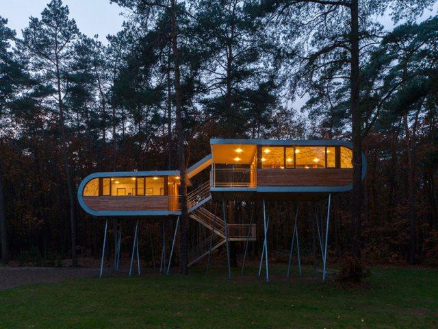 ประชุมท่ามกลางธรรมชาติ กับ  The Treehouse in Belgium 13 -