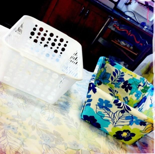IMG 4039 1 620x618 DIY แปลงโฉมตะกร้าพลาสติก เป็นตะกร้าผ้าสุดสวย