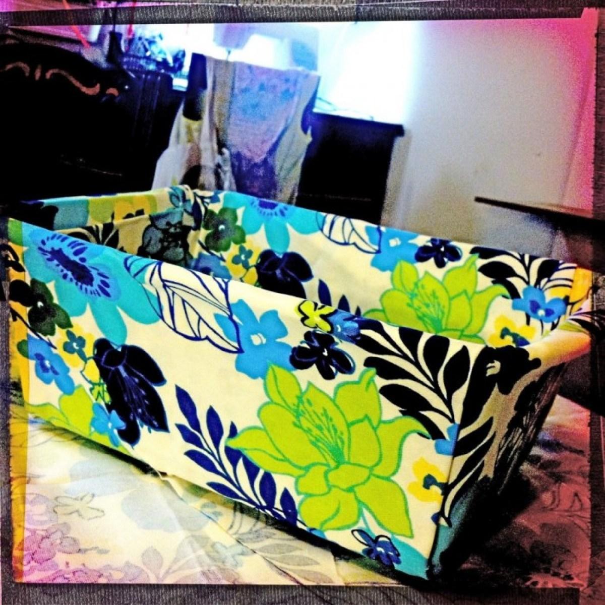 IMG 4043 1 DIY แปลงโฉมตะกร้าพลาสติก เป็นตะกร้าผ้าสุดสวย