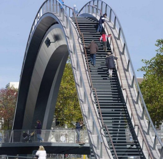 Melkweg Bridge by NEXT Architects สะพานที่สร้างความสุนทรีย์แก่ผู้สัญจรทางเท้า และจักรยาน 24 - Architecture
