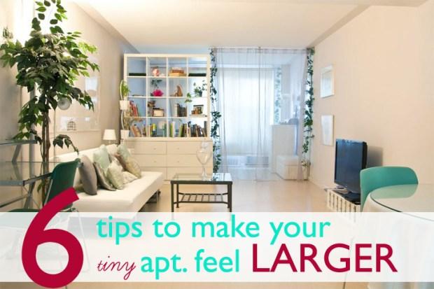 tiny apartment feel larger 620x413 6เคล็ดลับที่ทำให้อพาร์ตเม้นต์เล็กๆดูใหญ่ขึ้น