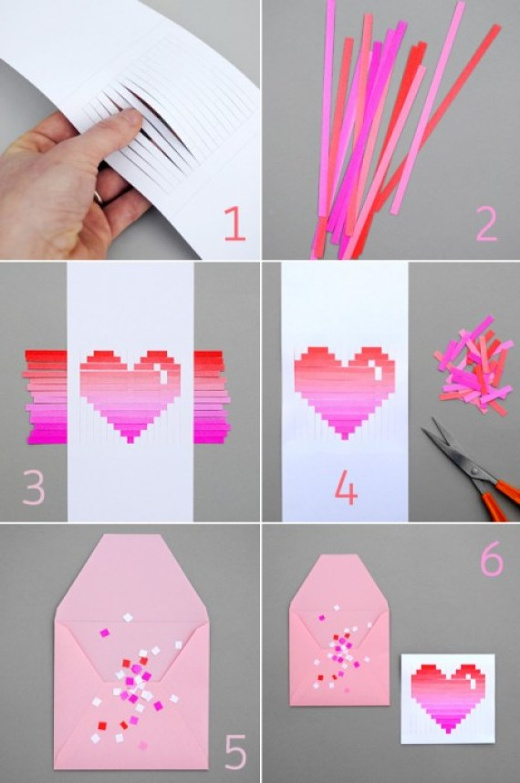 woven heart how to DIY.Woven heart,My Valentines card