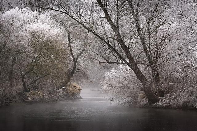 25560308 083531 A Frosty Morning..ภาพยามเช้าที่ห่มคลุมด้วยน้ำค้างแข็ง..สวยงาม สงบนิ่ง