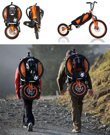 Folding Bike Bag 450x554 Folding Backpack Bike แบกได้ปั่นได้กับ จักรยาน แบ็กแพ็จเกอร์