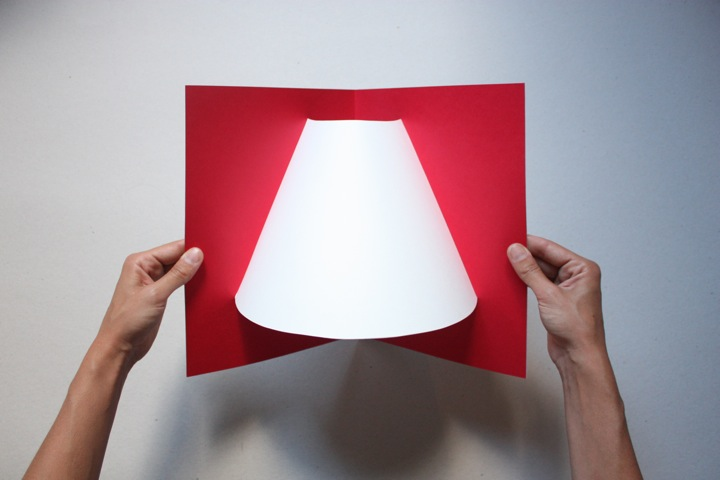 Pop up lamp hypenotice1 โคมไฟ จากกระดาษแผ่นเดียว..เท่มาก...