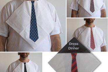 """Dress For Dinner Napkins เพิ่มความเท่สำหรับช่วงเวลาทานอาหารด้วย """"ผ้ากันเปื้อนเน็คไท"""" 13 - Dress For Dinner Napkins"""