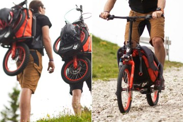 "Folding Backpack Bike แบกได้ปั่นได้กับ ""จักรยาน แบ็กแพ็จเกอร์"""
