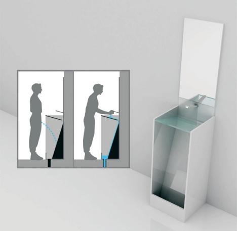 hybrid toilet sink design เมื่ออ่างล้างหน้า มาอยู่ร่วมกับโถปัสสาวะ..