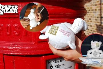 """Paper Teddy Bear ส่งจดหมายด้วย """"จดหมายตุ๊กตาหมี"""" 2 - letter"""