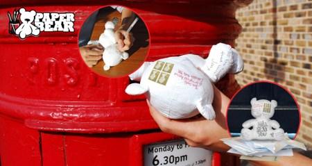 paper bear 450x239 Paper Teddy Bear ส่งจดหมายด้วย จดหมายตุ๊กตาหมี