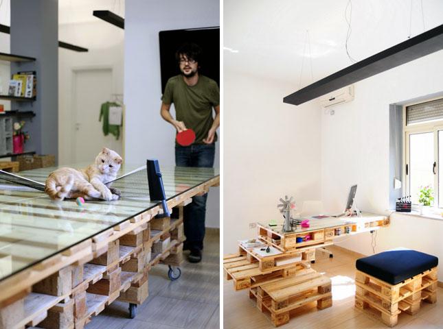 24 Workspace ไอเดียใช้ประโยชน์จากไม้ Pallet ตกแต่งแนว country