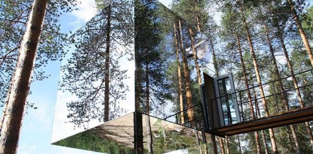 โรงแรมล่องหน กลางป่าลึกในสวีเดน Harads Tree Hotel