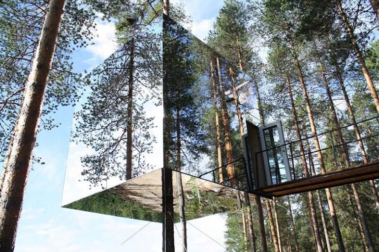 โรงแรมล่องหน กลางป่าลึกในสวีเดน Harads Tree Hotel 15 - GREENERY