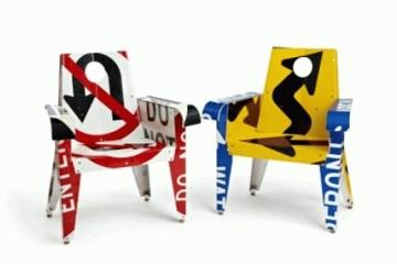 จากป้ายจราจรมาเป็นเฟอร์นิเจอร์สุดแนว... Upcycled Furniture By Boris Bally