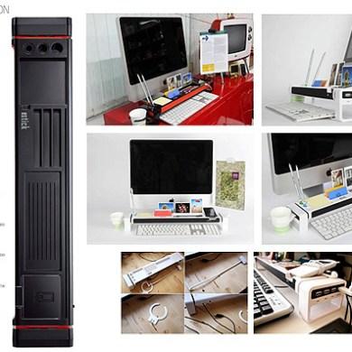 """จัดระเบียบแบบเต็มรูปแบบบนโต๊ะทำงาน ด้วย """"iStick Desk Organizer with USB Hub and Card Reader""""  23 - iStick"""