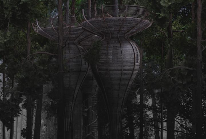 gibbon ROOST Treehouse 3 The Roost Treehouse..แบบเดียวกับบ้านเอล์ฟใน Lord of the Rings
