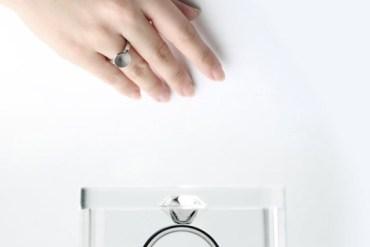 ขอแต่งงานด้วย Invisible love ring 14 - diamond