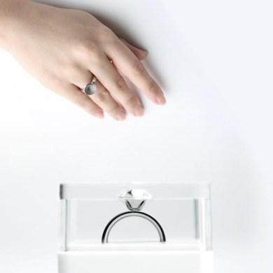 ขอแต่งงานด้วย Invisible love ring  18 - diamond