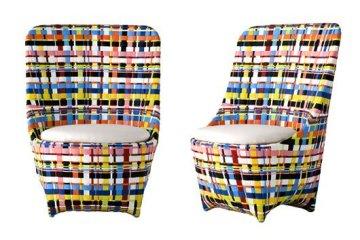 เก้าอี้สานแนวโมเดิร์น..ดูเหมือนตะกร้าสานของบ้านเรา
