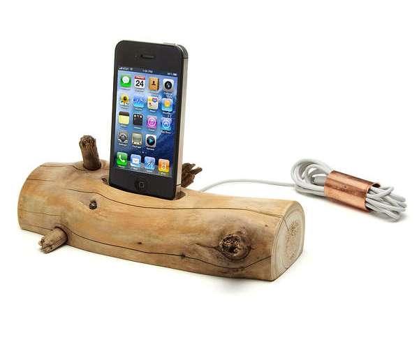 แท่นชาร์ต iPhone จากท่อนไม้ที่เก็บได้ตามชายหาด..นี่ล่ะ Organic Minimalism 24 - iPhone