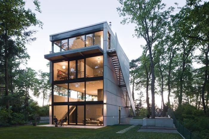 25560503 170142 Modern House..เชื่อมต่อภายนอกและภายในด้วย..คอนกรีต กระจกใส ไม้ และหิน