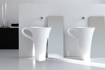 อ่างน้ำโมเดิร์น 10 แบบ ที่จะทำให้ห้องน้ำกลายเป็นจุดสดุดสายตา 14 - bathroom