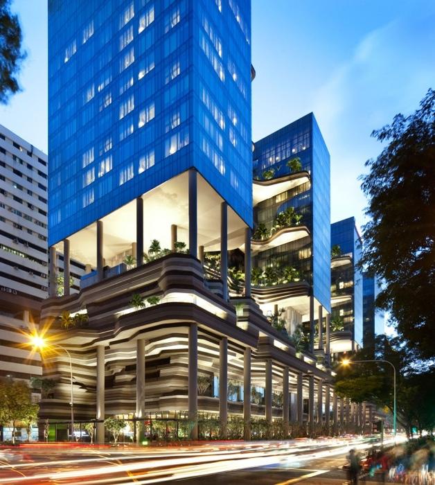 25560523 182156 สวนลอยฟ้า และรูปฟอร์มสวยงาม ที่ PARKROYAL Hotel สิงคโปร์