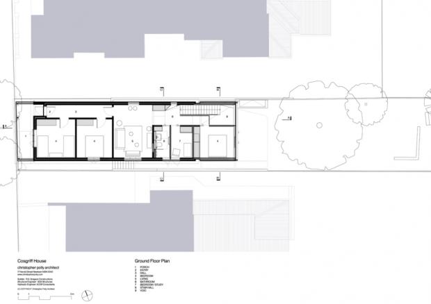51913217b3fc4bb750000049 cosgriff house christopher polly architect ground floor plan 620x438 บ้านที่ต่อเติมโดยเพิ่มพื้นที่ 20 ตร.ม.แต่ได้พื้นที่ใช้สอยทั้งห้องน้ำ ห้องนอน ห้องทำงาน ห้องครัว