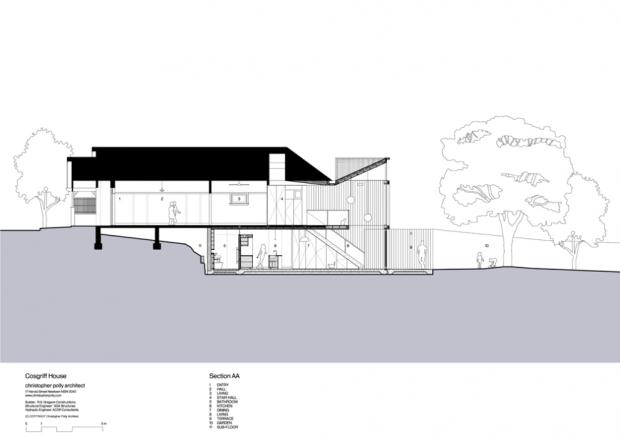 5191321cb3fc4b65bf00003b cosgriff house christopher polly architect section 620x438 บ้านที่ต่อเติมโดยเพิ่มพื้นที่ 20 ตร.ม.แต่ได้พื้นที่ใช้สอยทั้งห้องน้ำ ห้องนอน ห้องทำงาน ห้องครัว