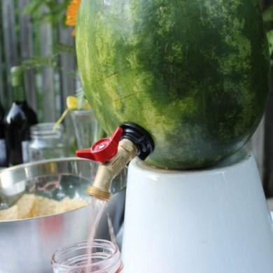 DIY ที่ใส่เครื่องดื่มดับร้อน จากลูกแตงโม 17 - DIY