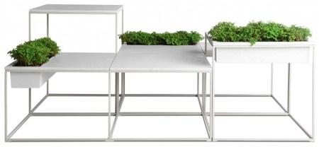 Kaja Set 02 450x208 Kaja by Kenneth Cobonpue โต๊ะสำหรับสร้างพื้นที่สีเขียว