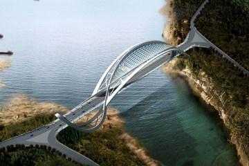 China's Dragon Inspired Eco Bridge สะพานแห่งนี้ดูมีสุนทรียะในความงดงามและมีประโยชน์ใช้สอย