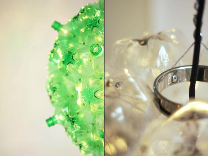 25560605 160731 Bubble Chandelier จากขวดพลาสติกใช้แล้ว โดย Souda เพื่อผู้ไร้บ้าน