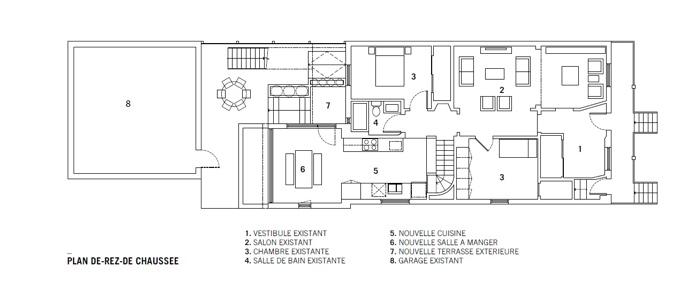 25560610 105000 ต่อเติมบ้านเก่าแบบทาวน์เฮาส์..ให้มีพื้นที่รับประทานอาหาร เป็นศูนย์กลางของบ้าน