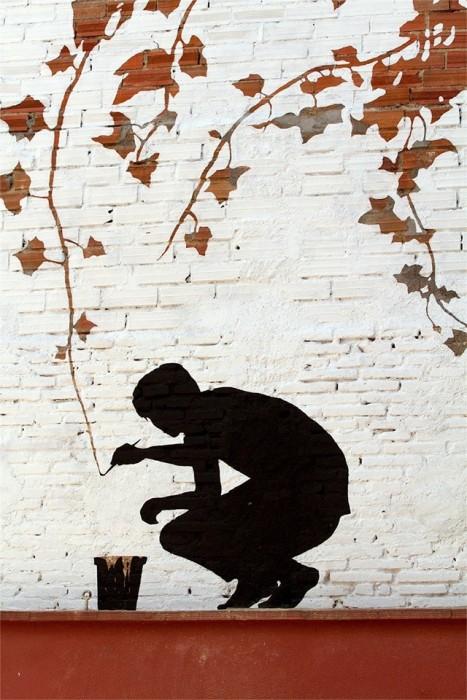 25560626 173939 ภาพวาดจากลอยแตกบนกำแพง..Subtractive Street Art โดย Pejac