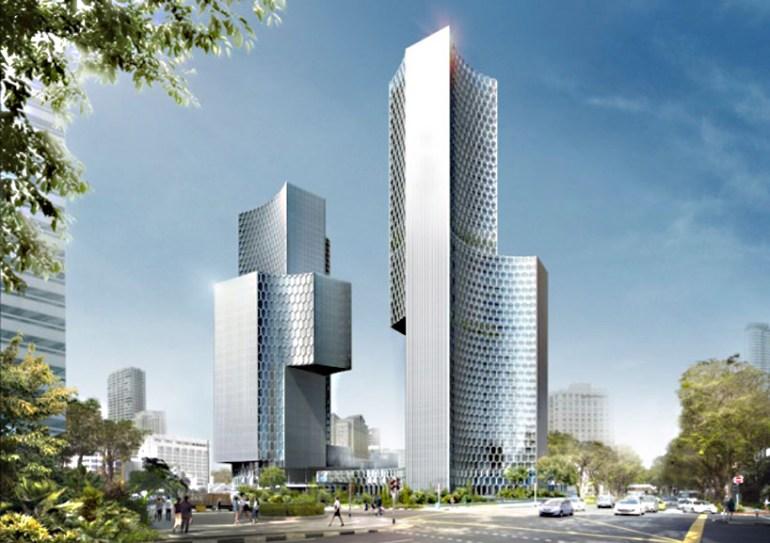 Twin Towers Duo  in Singapore ตึกแฝดด้วยรูปทรงที่เว้าแหว่ง ประเทศสิงคโปร์ 13 - Architecture
