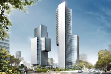 Twin Towers Duo  in Singapore ตึกแฝดด้วยรูปทรงที่เว้าแหว่ง ประเทศสิงคโปร์ 7 - Architecture