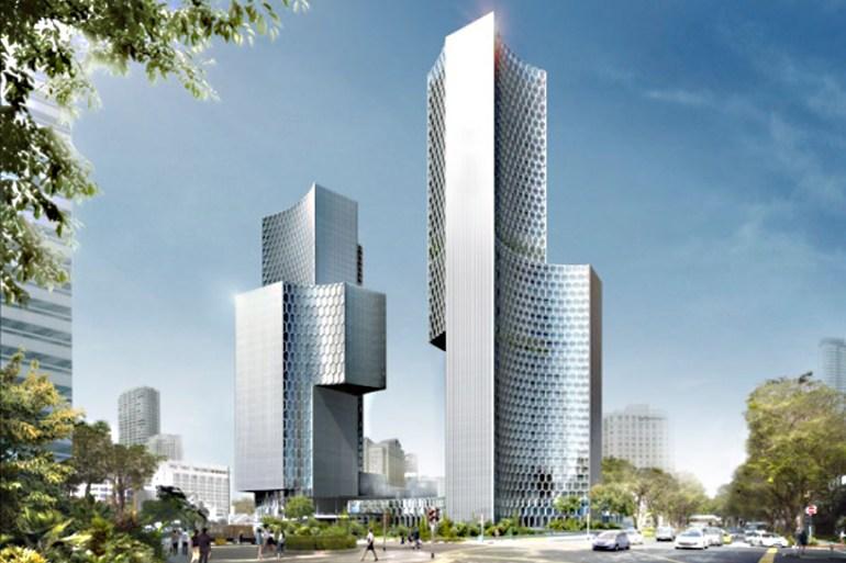 Twin Towers Duo  in Singapore ตึกแฝดด้วยรูปทรงที่เว้าแหว่ง ประเทศสิงคโปร์ 17 - Architecture