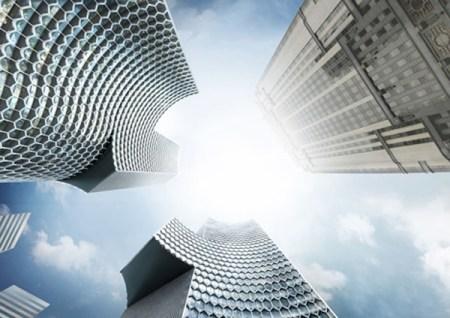 dezeen Ole Scheeren DUO in Singapore 3 450x318 Twin Towers Duo  in Singapore ตึกแฝดด้วยรูปทรงที่เว้าแหว่ง ประเทศสิงคโปร์