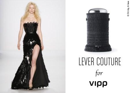 lever couture and vipp bin blk tabs IIHIH 450x322 VIPP's trashion couture ถังขยะกับชุดราตรีสุดหรู ในราคาร่วมแสน