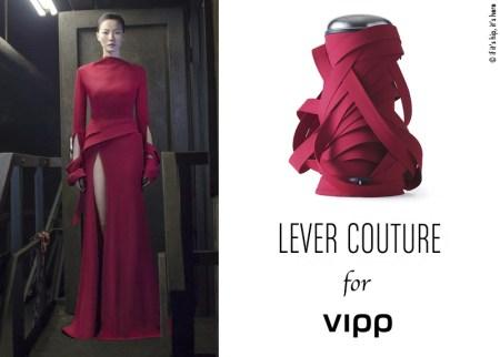 lever couture and vipp bin red IIHIH 450x322 VIPP's trashion couture ถังขยะกับชุดราตรีสุดหรู ในราคาร่วมแสน