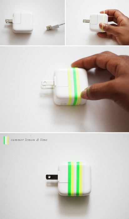 25560706 122926 DIY ใช้หนังยางสีสันสดใส สร้างความแตกต่างให้กับหัวปลั๊กชาร์ตแบต